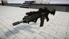 Rifle HK416 CQB alvo