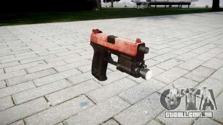 Pistola HK USP 45 vermelho para GTA 4