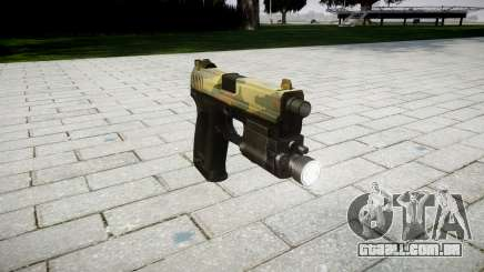 Pistola HK USP 45 flora para GTA 4