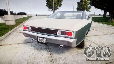 GTA V Albany Buccaneer paint1 para GTA 4 traseira esquerda vista