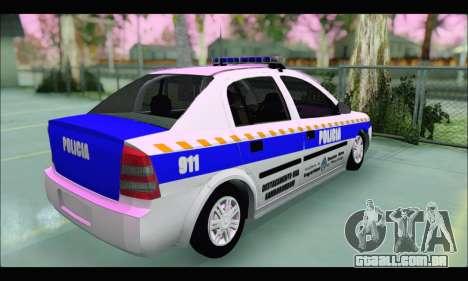 Chevrolet Astra Policia Vial Bonaerense para GTA San Andreas traseira esquerda vista