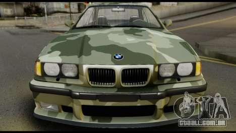 BMW M3 E36 Camo Drift para GTA San Andreas vista direita