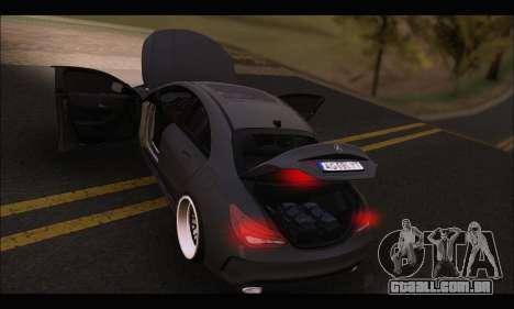 Mercedes Benz CLA 250 2014 para GTA San Andreas vista superior