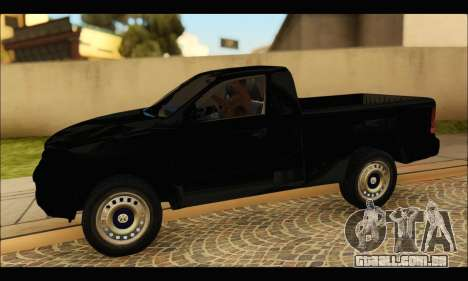 Volkswagen Amarok Cabina Simple para GTA San Andreas esquerda vista