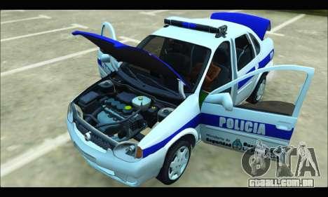 Chevrolet Corsa Policia Bonaerense para GTA San Andreas vista traseira