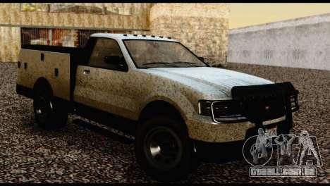 Utility Van from GTA 5 para GTA San Andreas traseira esquerda vista