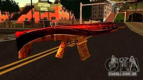 De Véspera de Ano novo Rifle de Assalto para GTA San Andreas segunda tela