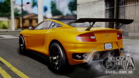 GTA 5 Dewbauchee Massacro Racecar SA Mobile para GTA San Andreas esquerda vista