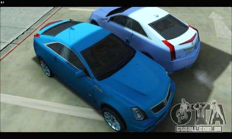 Cadillac CTS-V Coupe para GTA San Andreas traseira esquerda vista