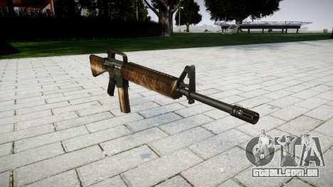 O M16A2 rifle empoeirado para GTA 4