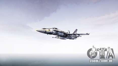 McDonnell Douglas FA-18 Hornet para GTA 4 traseira esquerda vista