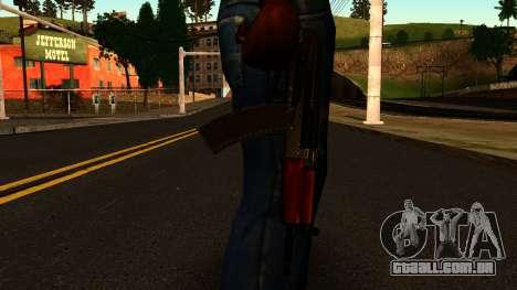 Escuro AKS-74U v2 para GTA San Andreas terceira tela