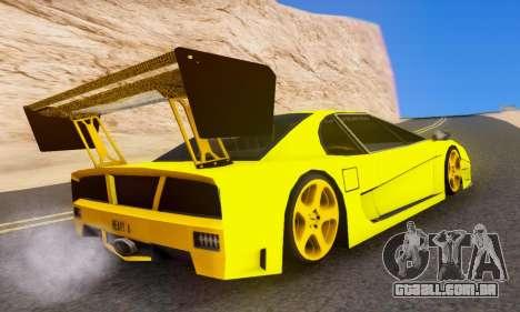 Turismo Edited para GTA San Andreas traseira esquerda vista