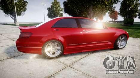 GTA V Benefactor Schafter body wide rims para GTA 4 esquerda vista