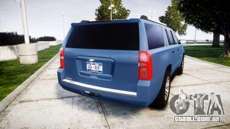 Chevrolet Suburban 2015 para GTA 4 traseira esquerda vista