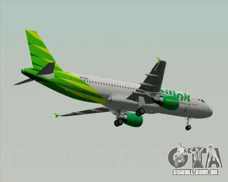 Airbus A320-200 Citilink para as rodas de GTA San Andreas