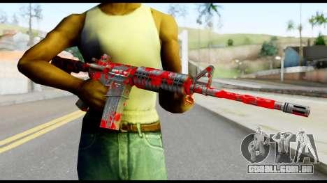 M4 with Blood para GTA San Andreas terceira tela