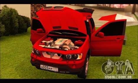 BMW X5 para GTA San Andreas vista interior