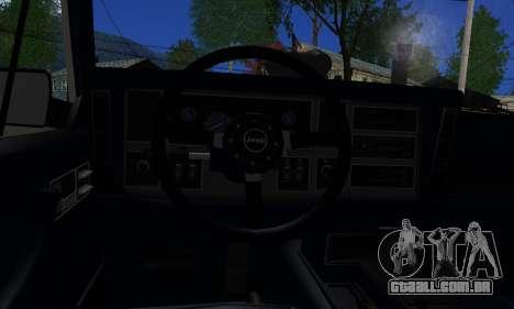 Jeep Mini-Truck para GTA San Andreas traseira esquerda vista