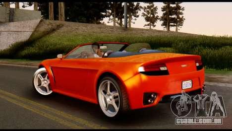 GTA 5 Dewbauchee Rapid GT Cabrio [IVF] para GTA San Andreas esquerda vista