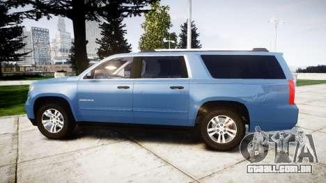 Chevrolet Suburban 2015 para GTA 4 esquerda vista