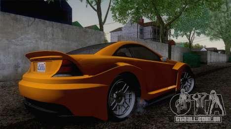 Benefactor Feltzer GTA V para GTA San Andreas traseira esquerda vista