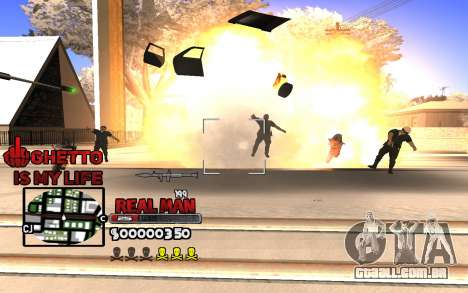 С-HUD Gueto é a Minha Vida para GTA San Andreas segunda tela