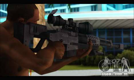 Raab KM50 Sniper Rifle From F.E.A.R. 2 para GTA San Andreas por diante tela