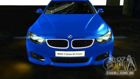 BMW 4-Series Coupe M Sport 2014 para GTA San Andreas vista direita