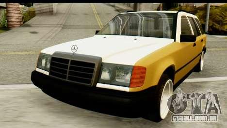 Mercedes-Benz W124 para GTA San Andreas vista traseira