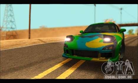 Mazda RX-7 Camo para GTA San Andreas vista direita