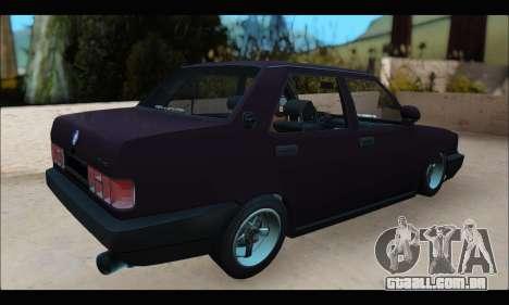 Tofas Dogan S para GTA San Andreas traseira esquerda vista