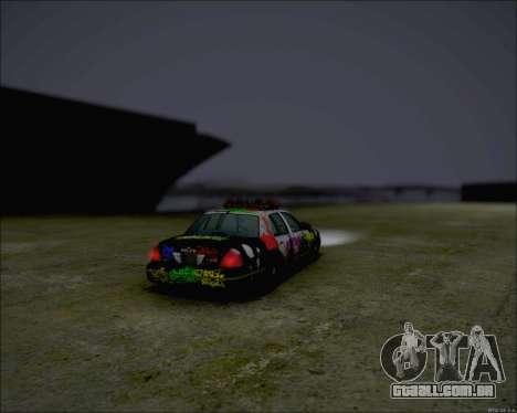 Ford Crown Victoria Ghetto Style para GTA San Andreas esquerda vista