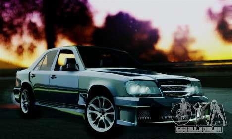 Mercedes-Benz W124 BRABUS V12 para GTA San Andreas traseira esquerda vista