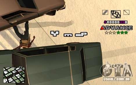 C-HUD Advance RP para GTA San Andreas por diante tela