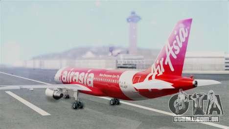 Air Asia Airbus A320 PK-AZF para GTA San Andreas esquerda vista