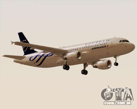 Airbus A320-200 Air France Skyteam Livery para GTA San Andreas vista direita