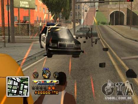 C-HUD Cor (melhor) para GTA San Andreas segunda tela