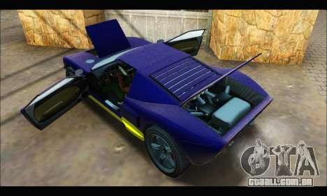 Vapid Bullet Gt (GTA IV) (LC Plate) para GTA San Andreas vista interior