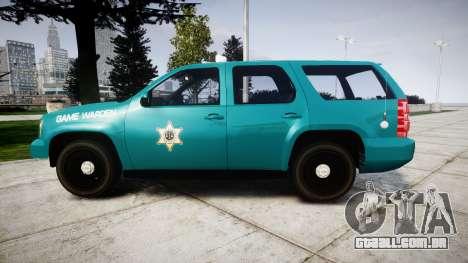 Chevrolet Tahoe 2013 Game Warden [ELS] para GTA 4 esquerda vista