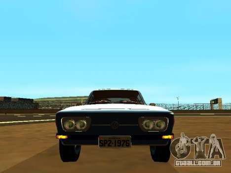 Volkswagen SP2 Original para GTA San Andreas traseira esquerda vista