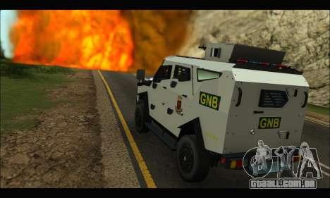 Oshkosh Sand Cat GNB para GTA San Andreas vista direita