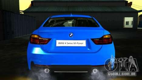 BMW 4-Series Coupe M Sport 2014 para GTA San Andreas vista traseira