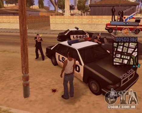 C-HUD Russian Mafia para GTA San Andreas quinto tela