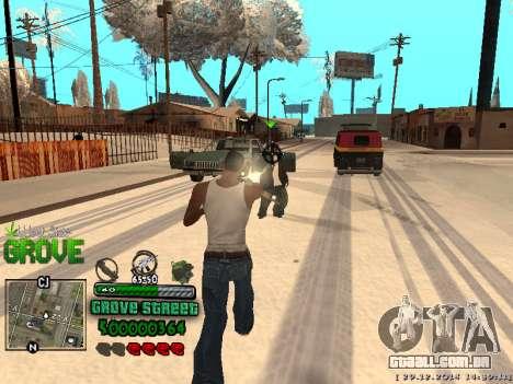 C-HUD Grove Street para GTA San Andreas nono tela