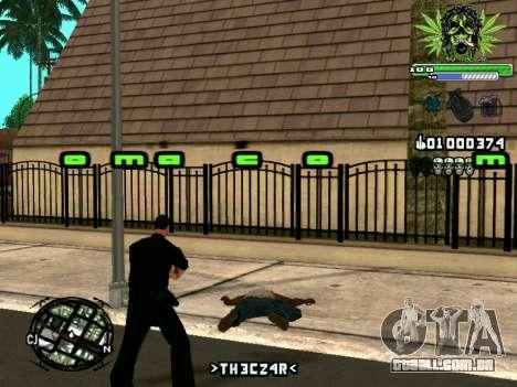C-HUD Marihaus para GTA San Andreas quinto tela