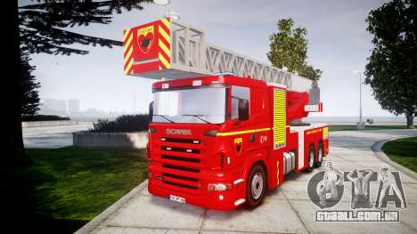 Scania R580 Paris Fireladder [ELS] para GTA 4