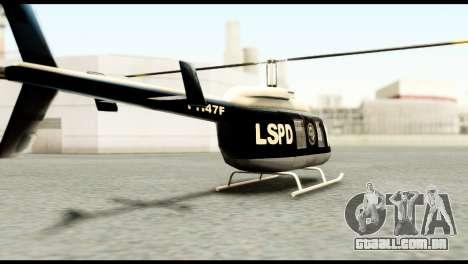 Beta Police Maverick para GTA San Andreas esquerda vista
