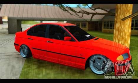 BMW e46 Sedan V2 para GTA San Andreas traseira esquerda vista