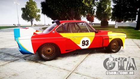 BMW 3.0 CSL Group4 1973 Art para GTA 4 esquerda vista